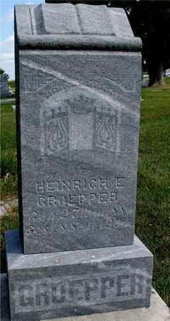 GROEPPER, HEINRICH E. - Ida County, Iowa   HEINRICH E. GROEPPER