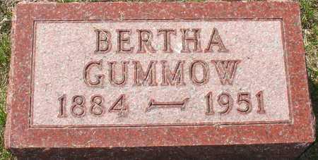 GUMMOW, BERTHA - Ida County, Iowa   BERTHA GUMMOW