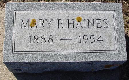 HAINES, MARY P. - Ida County, Iowa   MARY P. HAINES