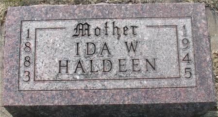 HALDEEN, IDA W. - Ida County, Iowa   IDA W. HALDEEN
