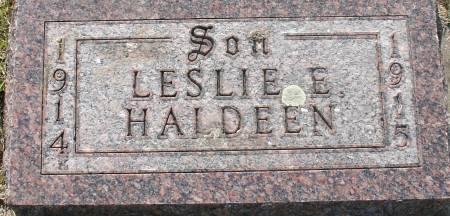 HALDEEN, LESLIE E. - Ida County, Iowa | LESLIE E. HALDEEN