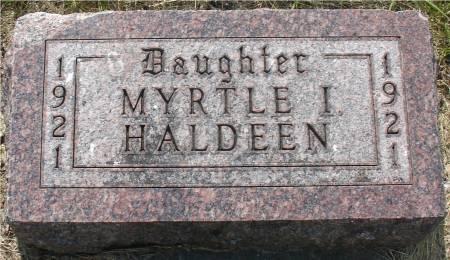HALDEEN, MYRTLE I. - Ida County, Iowa | MYRTLE I. HALDEEN