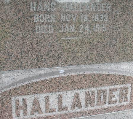 HALLANDER, HANS - Ida County, Iowa | HANS HALLANDER
