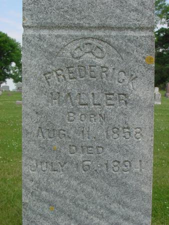 HALLER, FREDERICK - Ida County, Iowa   FREDERICK HALLER