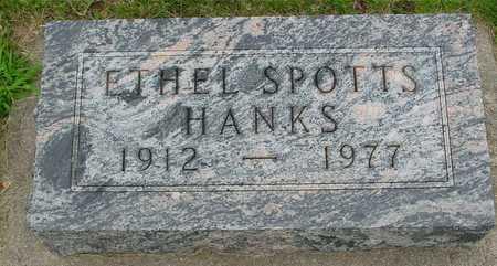 SPOTTS HANKS, ETHEL - Ida County, Iowa | ETHEL SPOTTS HANKS