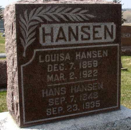 HANSEN, HANS & LOUISA - Ida County, Iowa | HANS & LOUISA HANSEN