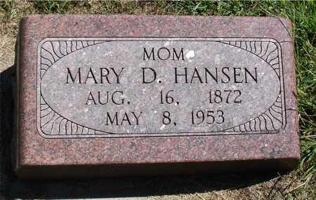 HANSEN, MARY D. - Ida County, Iowa   MARY D. HANSEN