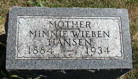 HANSEN, MINNIE - Ida County, Iowa | MINNIE HANSEN
