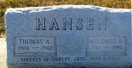 HANSEN, THOMAS & MILDRED - Ida County, Iowa | THOMAS & MILDRED HANSEN