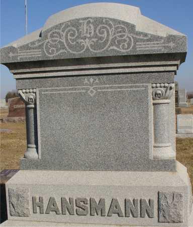 HANSMANN, FAMILY MARKER - Ida County, Iowa | FAMILY MARKER HANSMANN