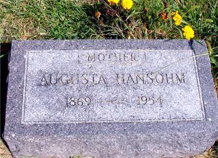 HANSOHM, AUGUSTA - Ida County, Iowa | AUGUSTA HANSOHM