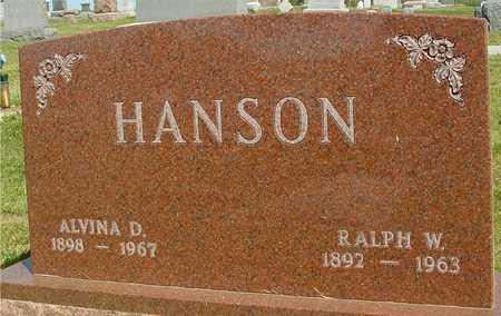 HANSON, ALVINA D. - Ida County, Iowa | ALVINA D. HANSON