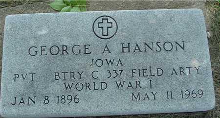 HANSON, GEORGE A. - Ida County, Iowa | GEORGE A. HANSON