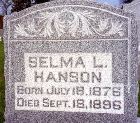 HANSON, SELMA - Ida County, Iowa | SELMA HANSON