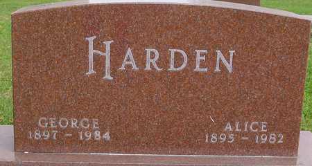 HARDEN, GEORGE & ALICE - Ida County, Iowa | GEORGE & ALICE HARDEN