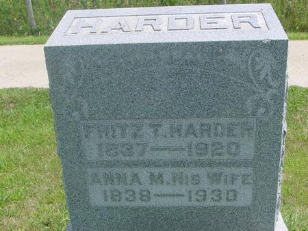 HARDER, FRITZ T. & ANNA - Ida County, Iowa | FRITZ T. & ANNA HARDER
