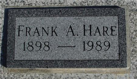 HARE, FRANK A. - Ida County, Iowa   FRANK A. HARE