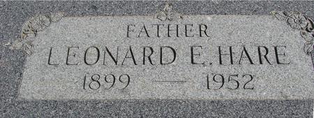 HARE, LEONARD E. - Ida County, Iowa | LEONARD E. HARE