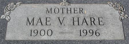 HARE, MAE V. - Ida County, Iowa | MAE V. HARE