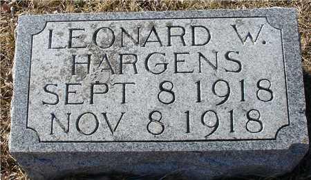 HARGENS, LEONARD W. - Ida County, Iowa | LEONARD W. HARGENS