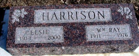 HARRISON, WM. RAY & ELSIE - Ida County, Iowa   WM. RAY & ELSIE HARRISON