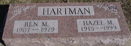 HARTMAN, BEN M. & HAZEL - Ida County, Iowa | BEN M. & HAZEL HARTMAN