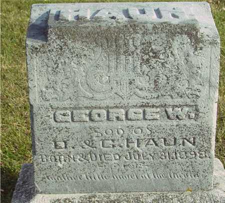 HAUN, GEORGE W. - Ida County, Iowa   GEORGE W. HAUN