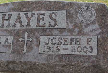HAYES, JOSEPH F. - Ida County, Iowa | JOSEPH F. HAYES