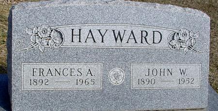 HAYWARD, JOHN & FRANCES - Ida County, Iowa | JOHN & FRANCES HAYWARD