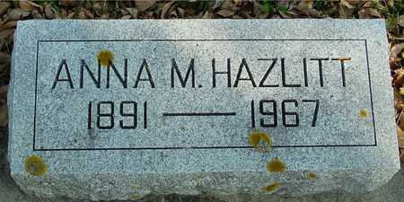 HAZLITT, ANNA M. - Ida County, Iowa | ANNA M. HAZLITT