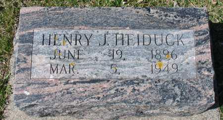 HEIDUCK, HENRY J. - Ida County, Iowa   HENRY J. HEIDUCK