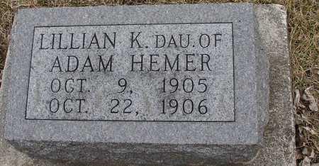 HEMER, LILLIAN K. - Ida County, Iowa | LILLIAN K. HEMER