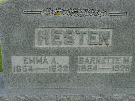 HESTER, BARNETTE M. - Ida County, Iowa | BARNETTE M. HESTER