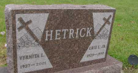 HETRICK, ORIE L.  JR. & VERNITA - Ida County, Iowa | ORIE L.  JR. & VERNITA HETRICK