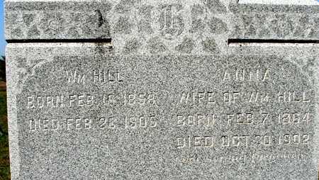HILL, WILLIAM & ANNA - Ida County, Iowa   WILLIAM & ANNA HILL