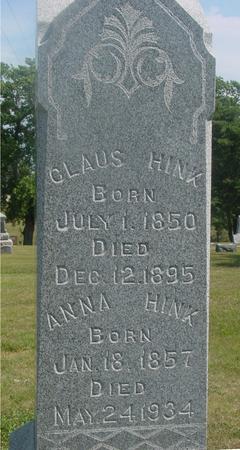 HINK, CLAUS & ANNA - Ida County, Iowa | CLAUS & ANNA HINK