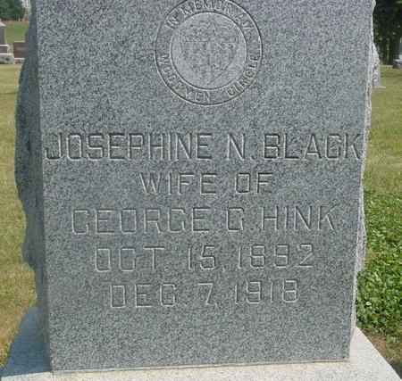BLACK HINK, JOSEPHINE N. - Ida County, Iowa | JOSEPHINE N. BLACK HINK
