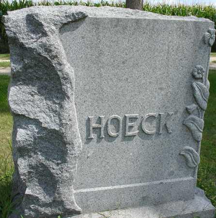 HOECK, FAMILY MARKER - Ida County, Iowa | FAMILY MARKER HOECK