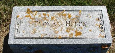 HOECK, THOMAS - Ida County, Iowa   THOMAS HOECK