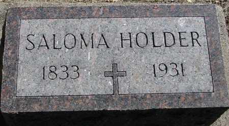 HOLDER, SALOMA - Ida County, Iowa | SALOMA HOLDER