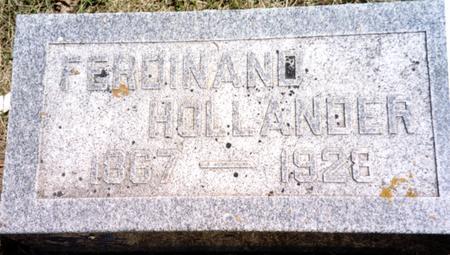 HOLLANDER, FERDINAND - Ida County, Iowa | FERDINAND HOLLANDER