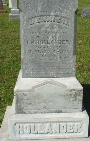 HOLLANDER, JENNIE D. - Ida County, Iowa | JENNIE D. HOLLANDER