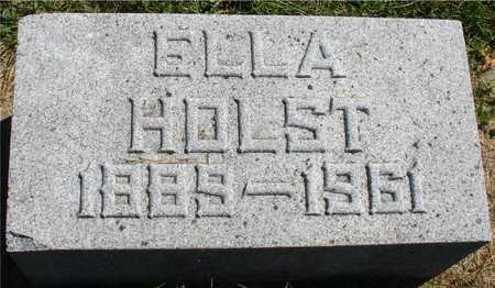 HOLST, ELLA - Ida County, Iowa   ELLA HOLST