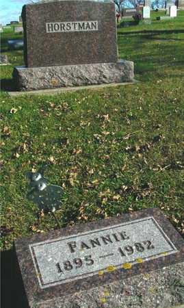 HORSTMAN, FANNIE - Ida County, Iowa | FANNIE HORSTMAN