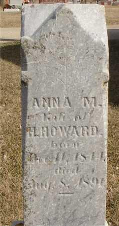 HOWARD, ANNA M. - Ida County, Iowa   ANNA M. HOWARD