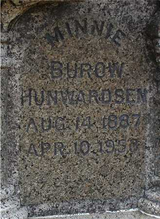 BUROW HUNWARDSEN, MINNIE - Ida County, Iowa | MINNIE BUROW HUNWARDSEN