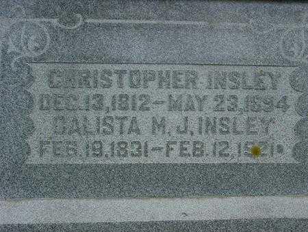 INSLEY, CALISTA M. J. - Ida County, Iowa | CALISTA M. J. INSLEY
