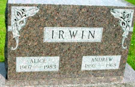 IRWIN, ANDREW & ALICE - Ida County, Iowa   ANDREW & ALICE IRWIN