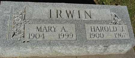 IRWIN, HAROLD & MARY A. - Ida County, Iowa   HAROLD & MARY A. IRWIN