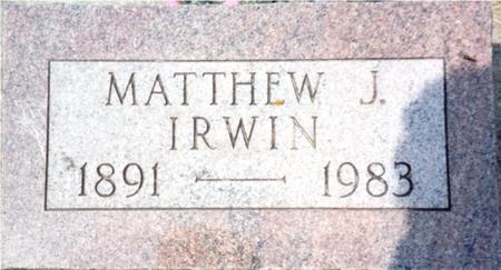 IRWIN, MATTHEW J. - Ida County, Iowa | MATTHEW J. IRWIN